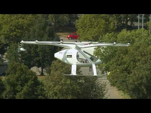 Volocopter-Flight in Stuttgart: Vision Smart City - future mobility today