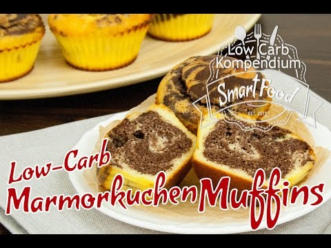 Marmorkuchen Muffins So Saftig Lecker Und Low Carb Youtube
