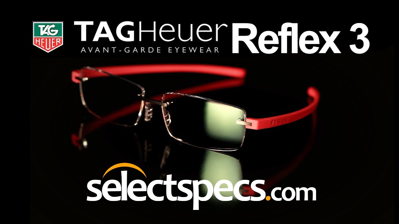 fe3f58d1a Tag Heuer Reflex 3 Rimless 3941 Lava and Red Glasses - With SelectSpecs.com