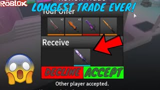 THE LONGEST DREAMWALKER TRADE IN HISTORY! *WORTH IT* (ROBLOX ASSASSIN LONG TRADES)