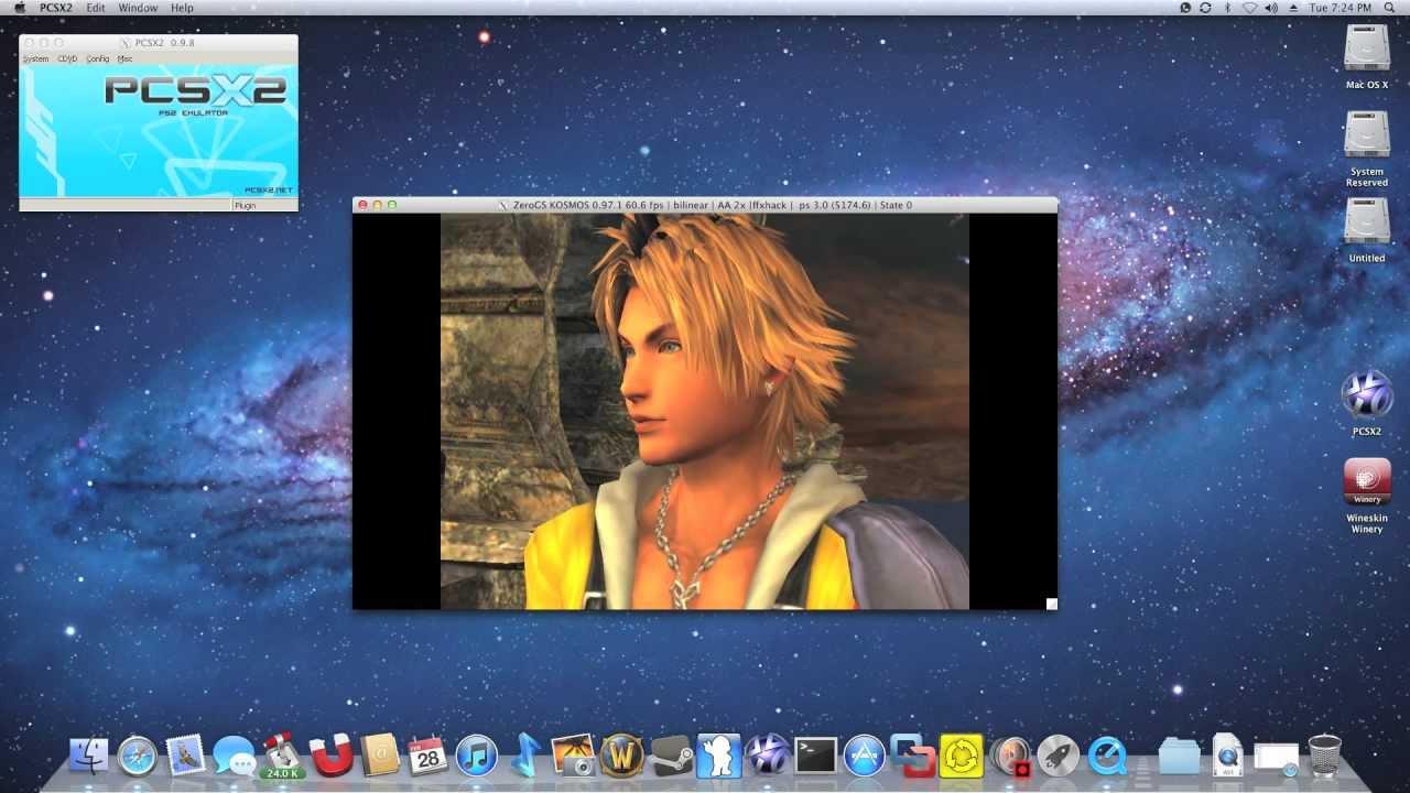 PCSX2 Mac OS X via Wineskin