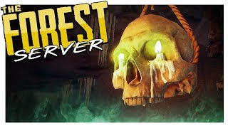 SPOOKY SERVER! (Hard Survival Prep)   The Forest Multiplayer Gameplay Part 1