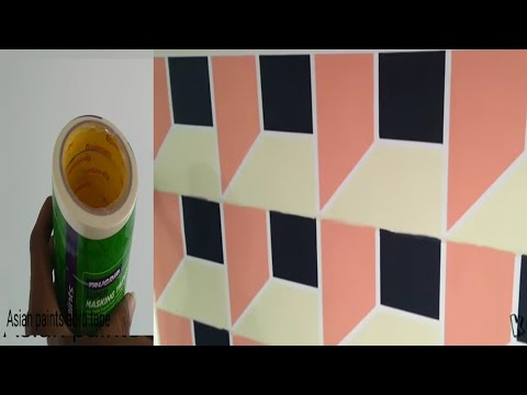Asian paints masking tape geometric Wall painting 3D design