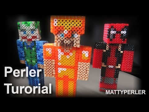 3D minecraft tutorial - perler beads
