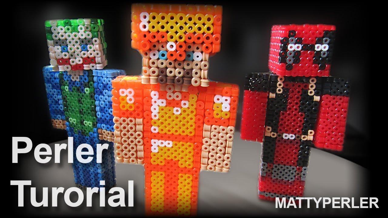 3d Minecraft Tutorial Perler Beads