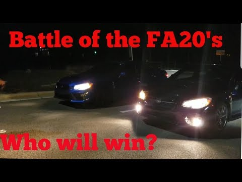 "Subaru WRX VS WRX ""Battle of the FA20's"" & Evo VS WRX"