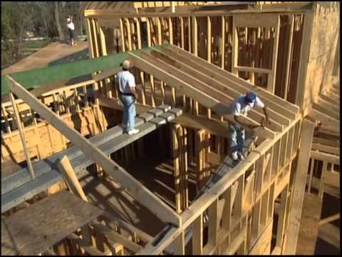 Cutting And Laying Roof Rafters For The Vaulted Roof Youtube