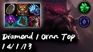 Diamond 1 Ornn Top vs Fiora | Korea High Elo Replays