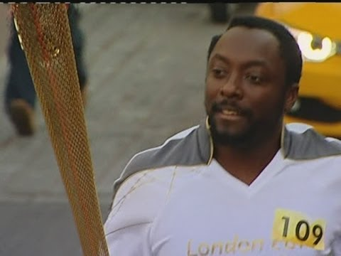 Will.i.am from the Black Eyed Peas carries the London 2012 Olympic Torch