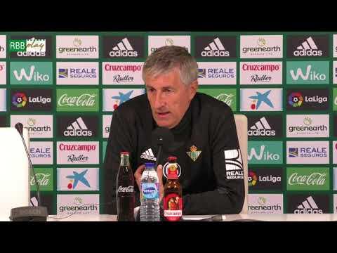 Rueda de prensa de Quique Setién previa al partido contra el Girona FC