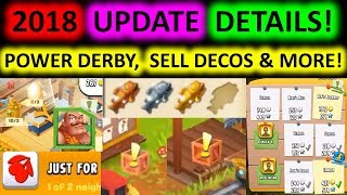 HAY DAY - UPDATE INFO! POWER DERBY, SELL DECOS, REQUEST HELP + MORE!