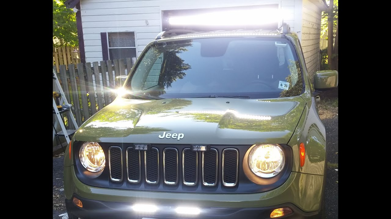 Jeep Renegade 2015 Led Lightbar Install Quiet 42 Quot Light
