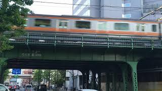 【ちゅうおうせん】中央線快速 E233系@新宿〜四ツ谷