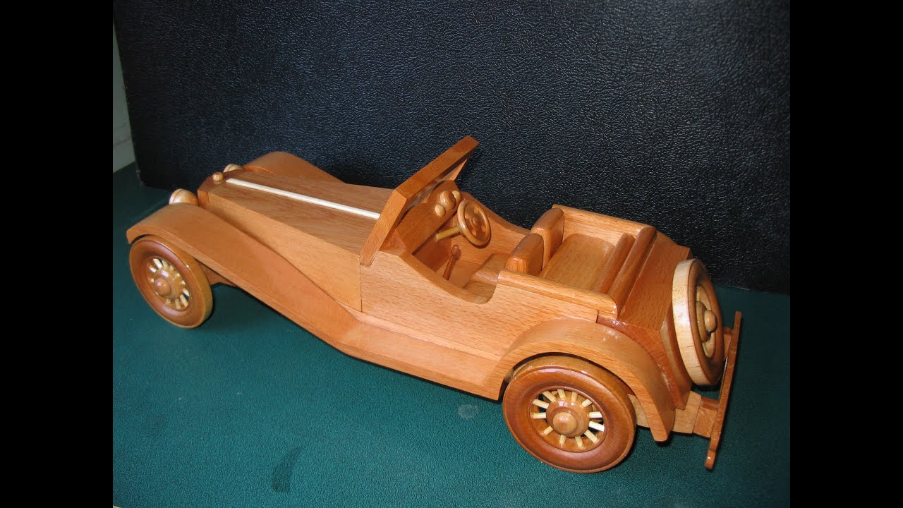 SS100 Jaguar Wooden Model - YouTube