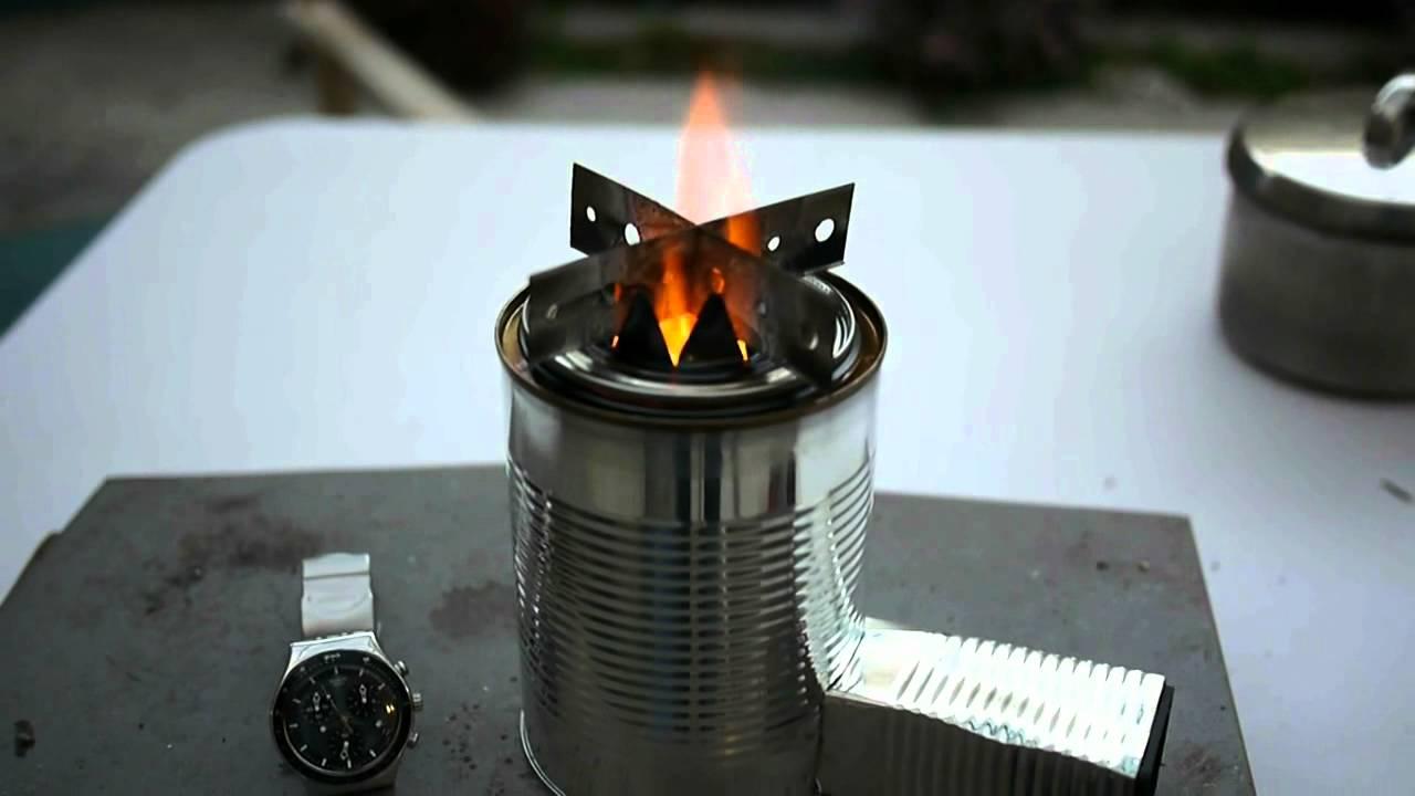 Woodgas Camping Stove TLUD Fan No Smoke Black Pot