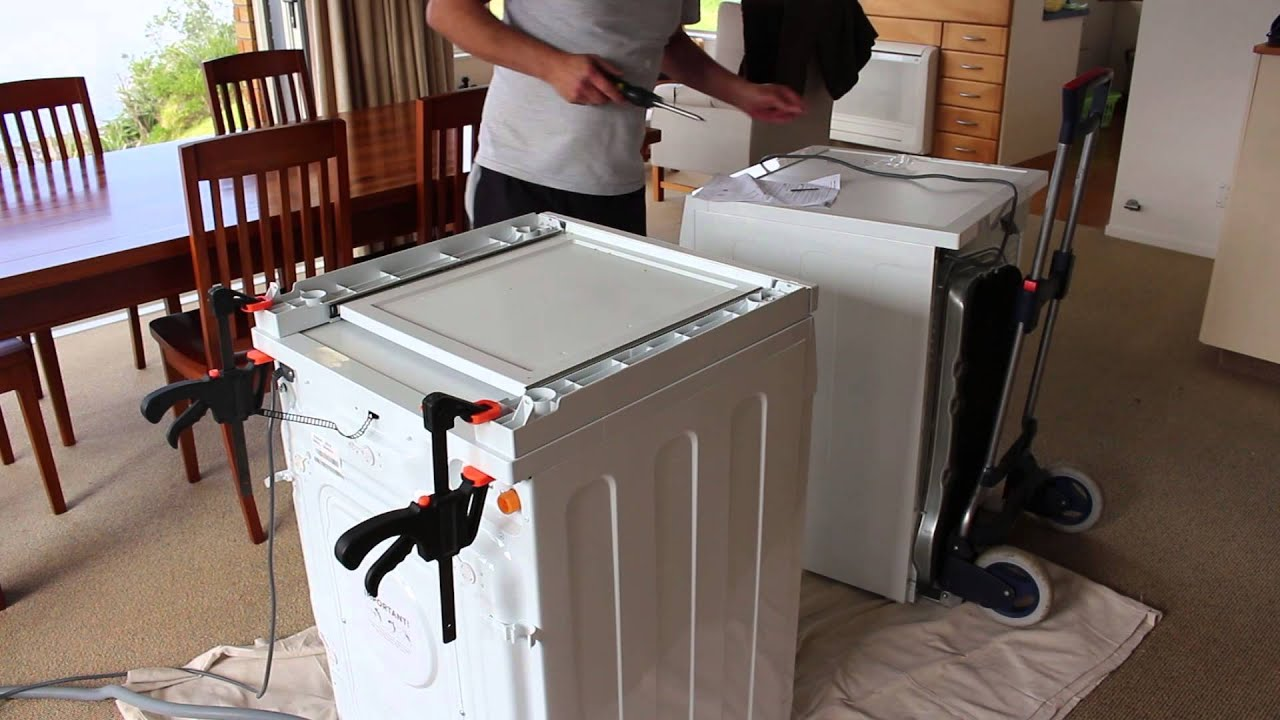 Installing A Fisher Amp Paykel Dryer Stacking Kit Youtube