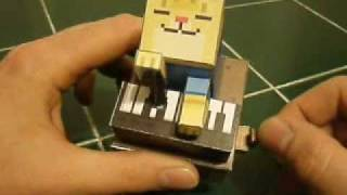 Piano Cat Papercraft Automata
