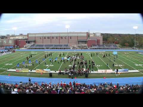 Stoughton HS Marching Black Knights and Color Guard, October 28, 2018