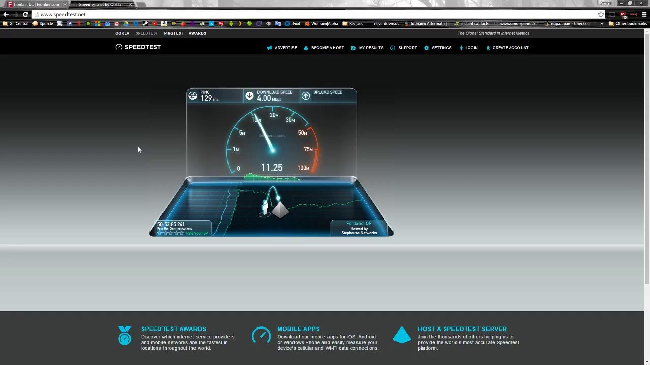 frontier internet speeds