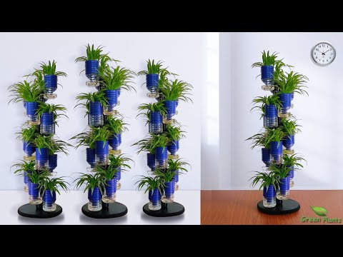 self-watering-system-for-plants-using-plastic-bottle-|-auto-watering-vertical-garden//green-plants