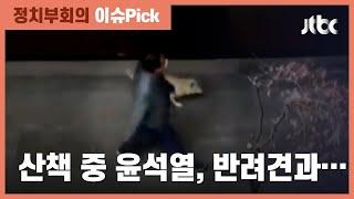 징계 이틀만에 모습 드러낸 윤석열…반려견과 동네 산책 / JTBC 정치부회의