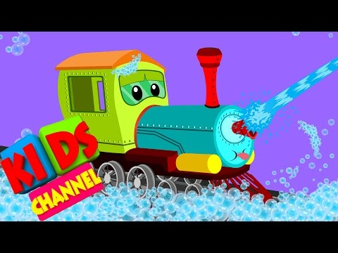 Train | car wash | video for kids | cartoon vehicles for children