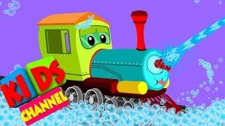 Zug | Auto waschen | video für Kinder | Zeichentrickfilm-Fahrzeuge für Kinder