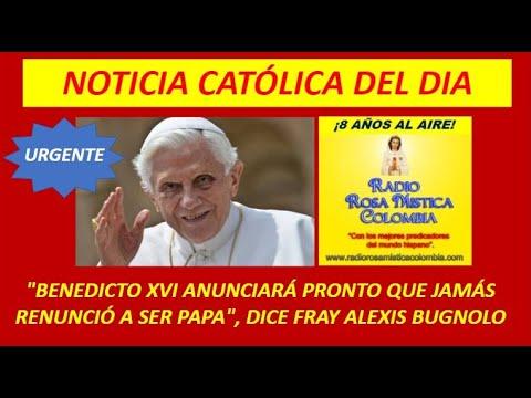 Benedicto XVI anunciara que jamas renuncio a ser Papa