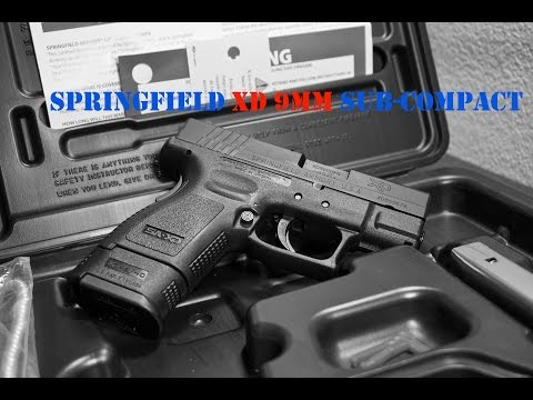 Springfield XD Sub Compact 9mm Unboxing + Initial Impression + Tech Specs + Features | Part 1