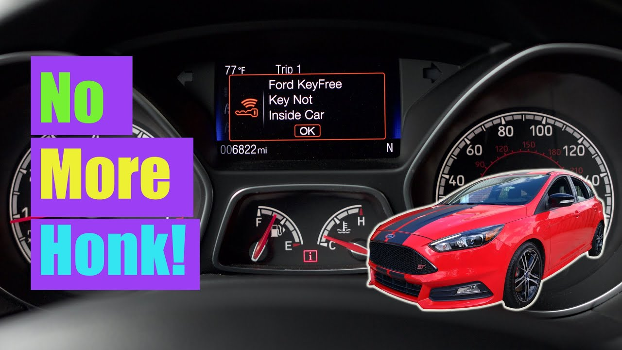 Focus St Tip Disable Key Not Detected Double Honk Youtube 2014 Ford Horn