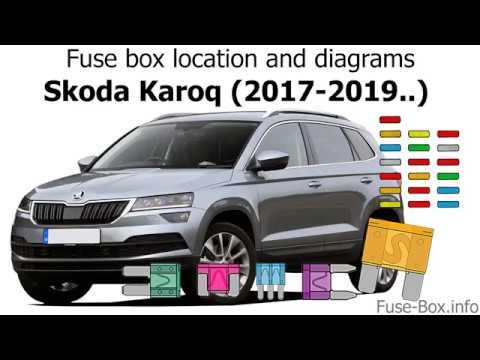 Fuse box location and diagrams Skoda Karoq (2017-2019) - YouTube