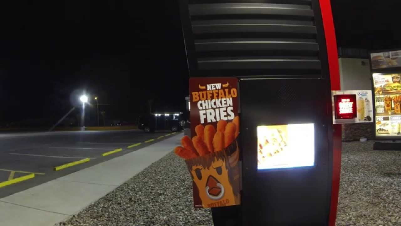 Burger King Drive-Thru, Buffalo Chicken Fries & Halloween Whopper, Gila Bend, Arizona - YouTube
