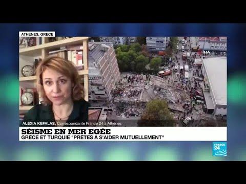 Séisme en Mer Égée : 'les dégâts sont moins importants en Grèce qu'en Turquie'