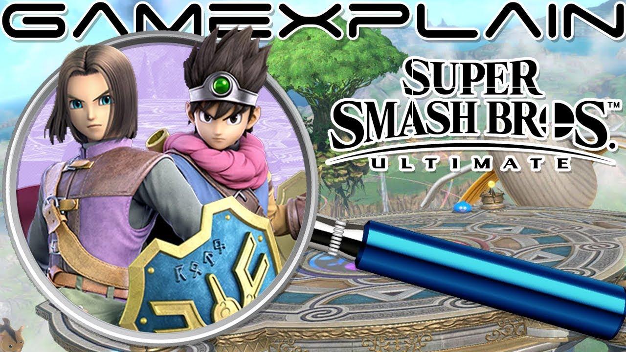 Super Smash Bros  Ultimate ANALYSIS - Dragon Quest Hero Reveal Trailer  (Secrets & Hidden Details)