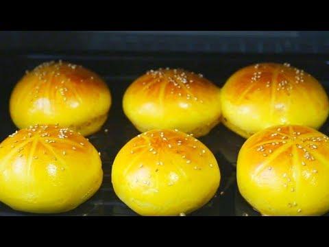 南瓜烤饼的做法,饼皮酥脆里面宣软,香软又美味