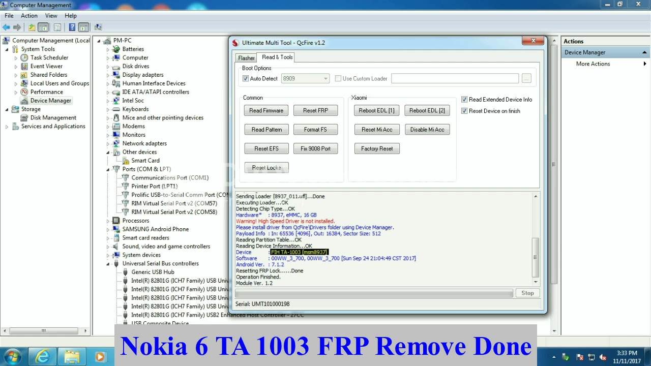 Nokia 6 FRP Unlock 100% Solution