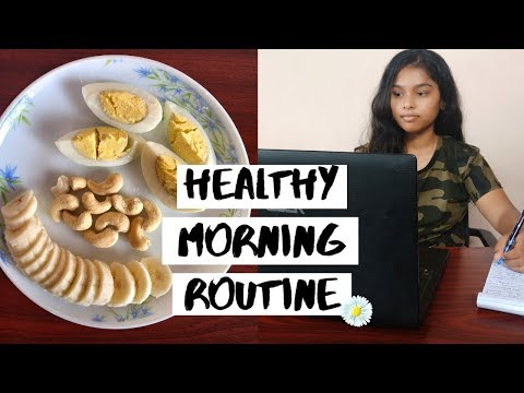 MY HEALTHY MORNING ROUTINE   working out + eating healthy & being productive