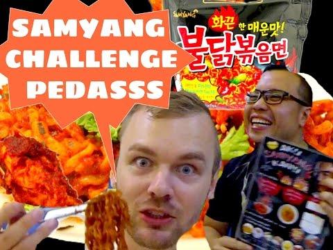 Samyang Challenge pedas + Buldak: Bule Kulineran vs. Enjoyaja.com di Jakarta   FVLOG #58