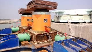 পদ্মা সেতু - তৃতীয় স্প্যান বসানোর জন্যে সম্পূর্ণ প্রস্তুত পিলার ৪০ এবং ৩৯ - Padma Bridge