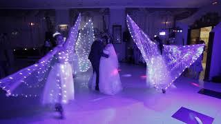 Танец или Подтанцовка к свадебному танцу. Светодиодные крылья