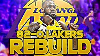 LOS ANGELES LAKERS 82-0 REBUILD! (NBA 2K20)