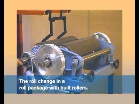 Roller Mill By Rueter Equipped With A Roll Package Youtube