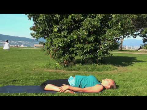 Yoga: Reclining Hero Pose (Supta Virasana)