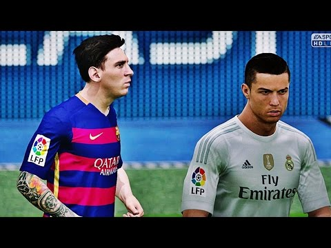 FIFA 2016 - Real Madrid Vs Barcelona - Highlights HD PS4 60 FPS