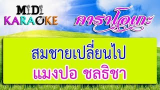 สมชายเปลี่ยนไป - แมงปอ ชลธิชา | MIDI KARAOKE มิดี้ คาราโอเกะ
