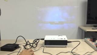 How to hook up projector to dish receiver