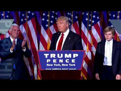 Дональд Трамп – избранный президент США – выступил с речью