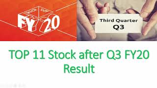 Top 11 Stock after Q3 FY20 Result | Buy | Hold | Sell | Share Market News | Long Term Investment
