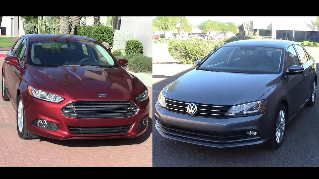 2017 Ford Fusion And Vw Jetta