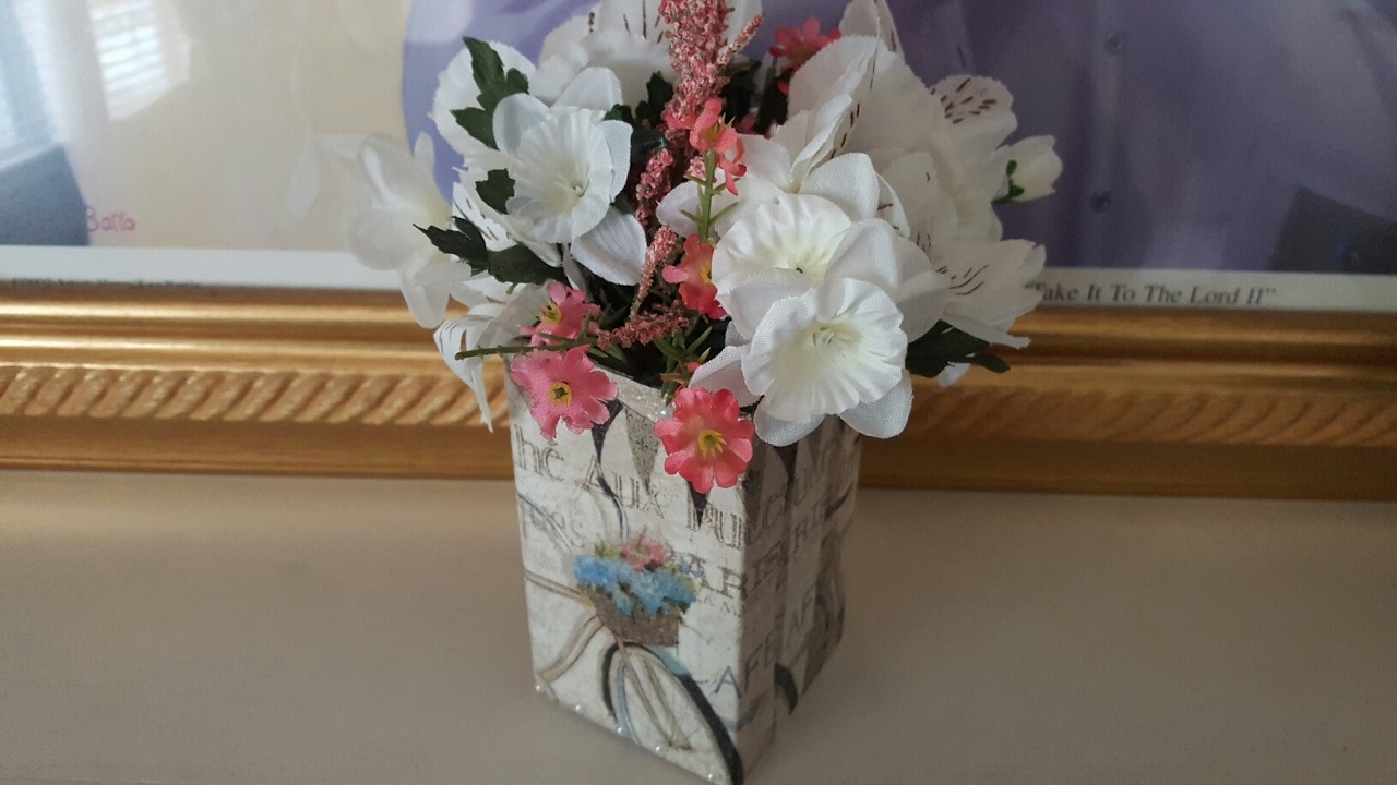 Diy Flower Box Upcycle Dollar Tree Crafts Mod Podge